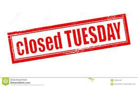 Dinsdagmiddag gesloten.