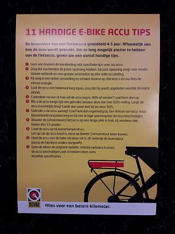 11 Handige E-Bike accu tips.